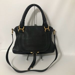 Authentic Chloe Medium Marcie Black Double Carry